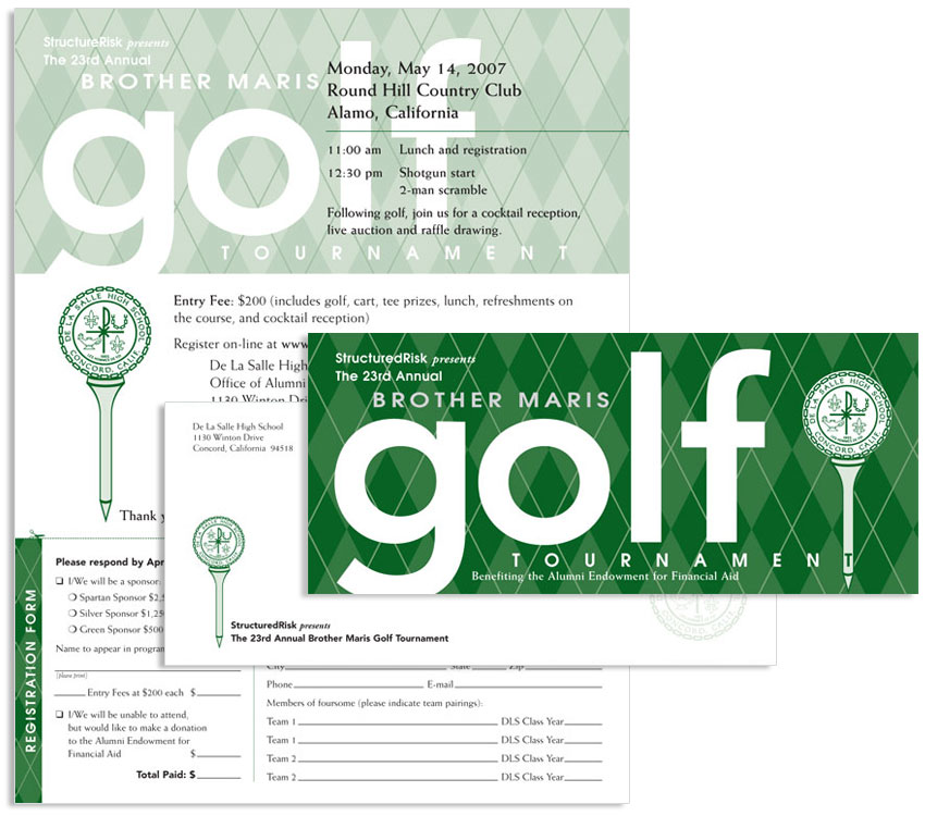 Golf invitation stationary
