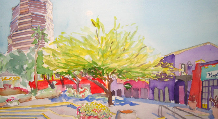 Downtown Tucson Watercolor Painting