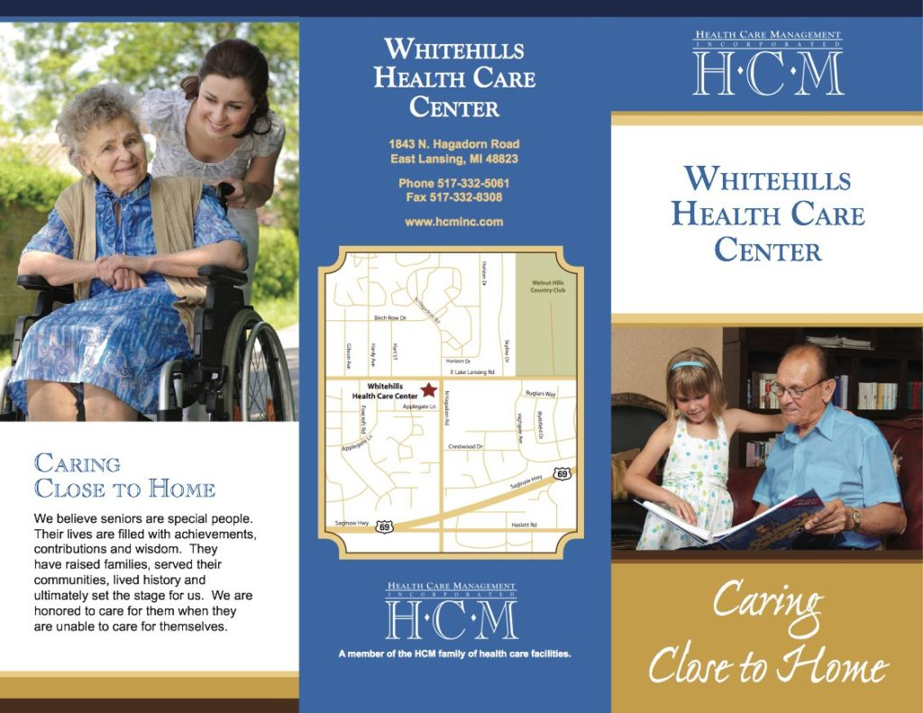 HCM Health Care Center trifold brochure design