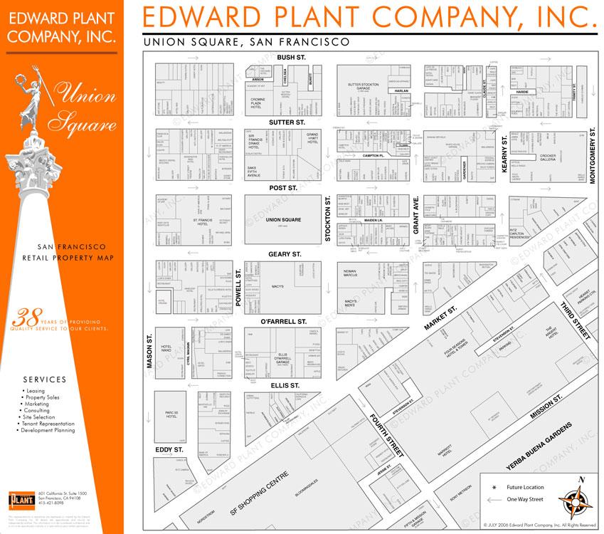 San Francisco Union Square real estate map