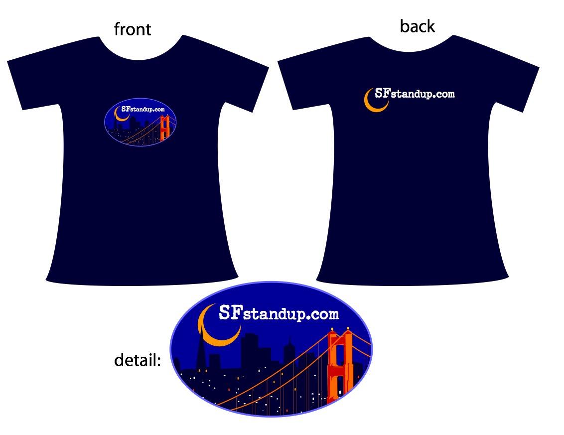 SFstandup T-shirt design