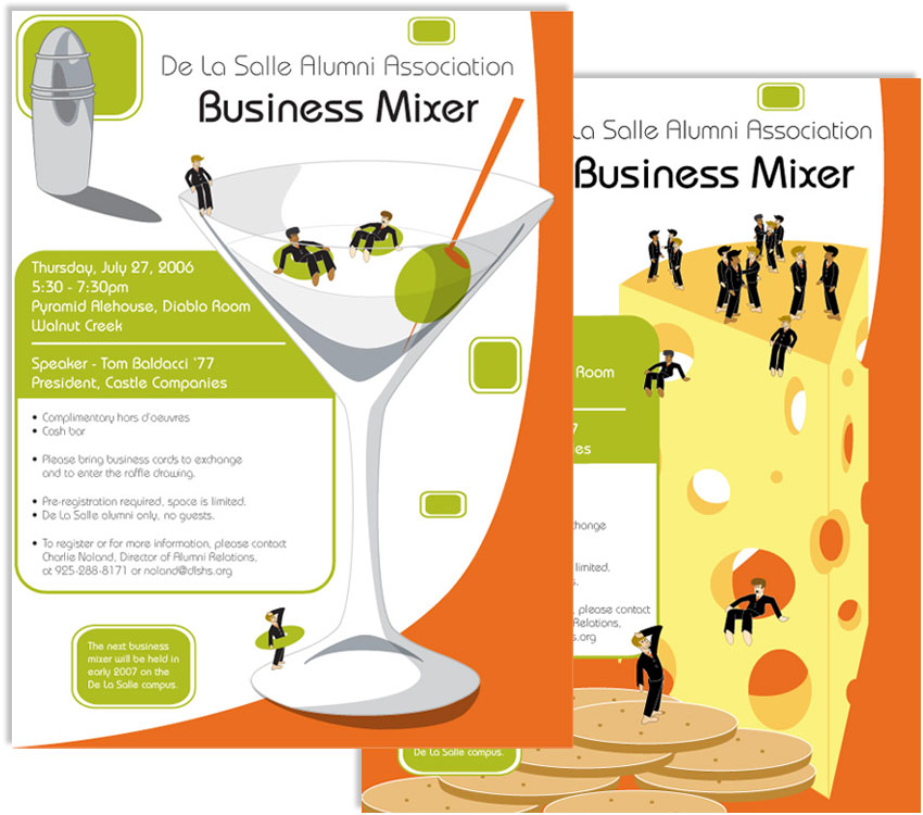 Digital illustration business mixer amy lehrman design dlsh mixer flyer stopboris Images